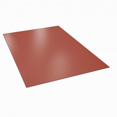 Tabla plana Bilka, rosu inchis mat (RAL 3009), 2000 x 1250 x 0.5 mm