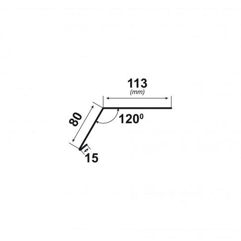 Bordura streasina Bilka, gri mat (RAL 7024). 0.5 mm