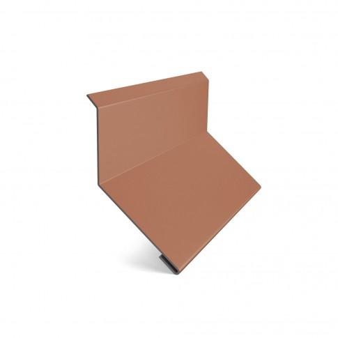 Bordura la perete Baudeman, caramiziu (RAL 8004), 0.45 mm