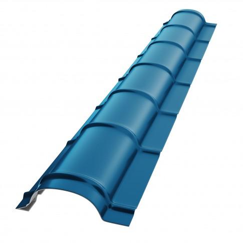 Coama mica Baudeman, albastru lucios (RAL 5010), 2000 x 230 x 0.45 mm