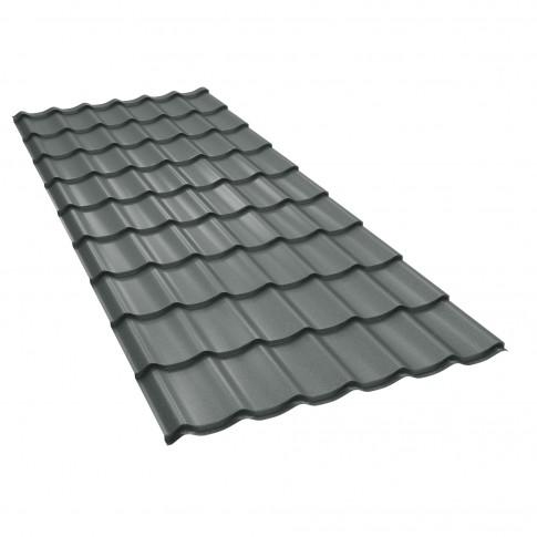 Tigla metalica Baudeman Clasic 35, gri mat (RAL 7024)