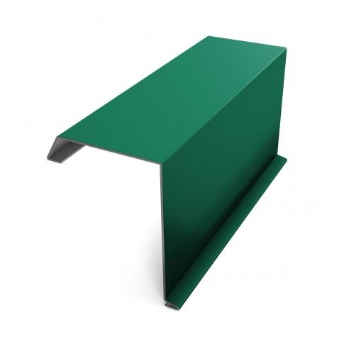 Bordura fronton Baudeman verde lucios (RAL 6005) 2000 x 312.5 x 0.45 mm
