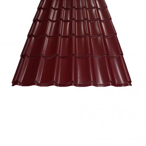 Tigla metalica Bilman, visiniu lucios (RAL 3005), 2570 x 1200 x 0.4 mm