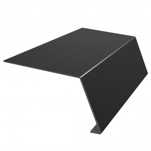 Bordura streasina Bilka, negru mat (RAL 9005), 0,45 mm