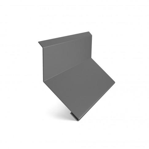 Bordura la perete Baudeman, gri (RAL 7024), 0.45 mm