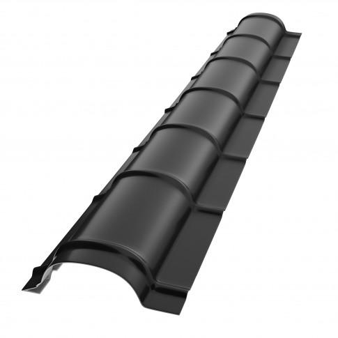 Coama mica Baudeman, negru lucios (RAL 9005), 2000 x 230 x 0.45 mm