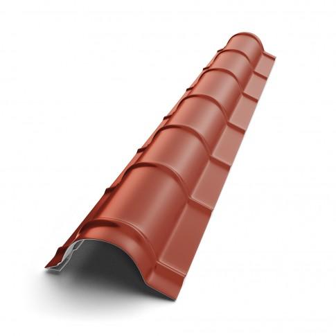 Coama mare Baudeman, rosu maroniu (RAL 3009), 2000 x 290 x 0.45 mm