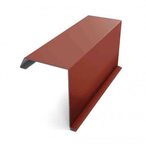 Bordura fronton Baudeman rosu maroniu lucios (RAL 3009) 2000 x 312.5 x 0.45 mm
