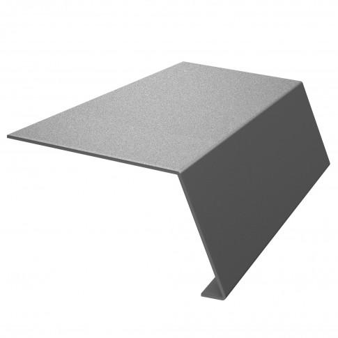 Bordura streasina Bilka, argintiu lucios (RAL 9006), 0,45 mm