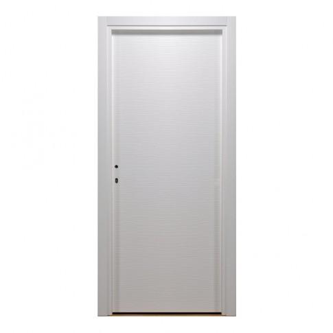 Usa interior celulara, Eco Euro Doors HDF D, dreapta, alb, 205 x 86 cm cu toc