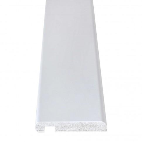 Pervaz pentru usa interior, vopsit alb, 8 + 12 x 70 mm, set 3 bucati
