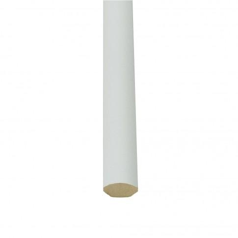 Bagheta toc usa interior, vopsita alb, 21 x 12 mm, set 3 bucati