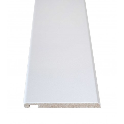 Pervaz pentru usa interior, alb, 8 + 12 x 100 mm, set 3 bucati