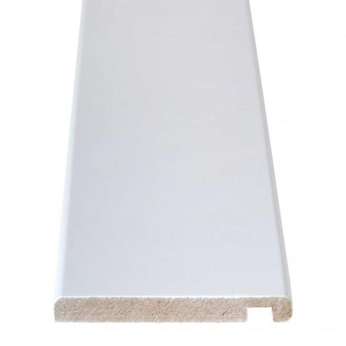Pervaz pentru usa interior, vopsit alb, 8 + 12 x 100 mm, set 3 bucati