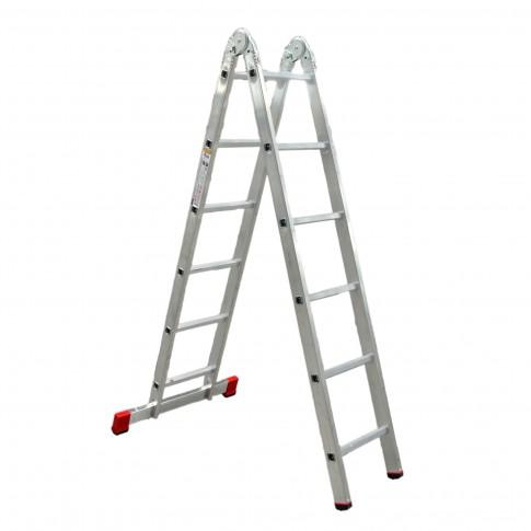 Scara aluminiu articulata Forte 2 x 6 trepte