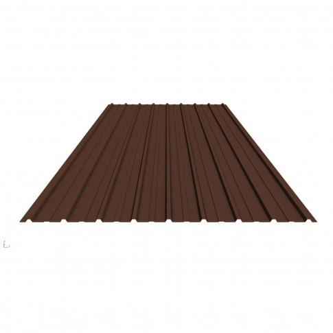 Tabla zincata cutata vopsita, maro (RAL 8017) H10 0,3 x 910 x 2000 mm