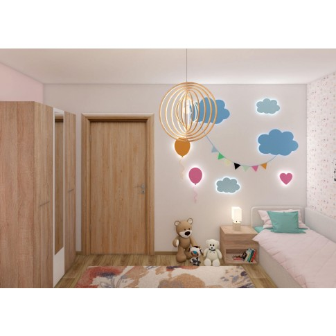 Usa interior celulara, Eco Euro Doors R80 Maria, dreapta, stejar cu fibra, 202 x 76 x 4 cm cu toc rotunjit