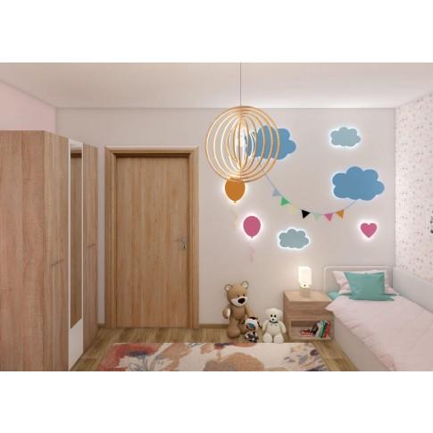 Usa interior celulara, Eco Euro Doors R80 Maria, dreapta, stejar cu fibra, 202 x 86 x 4 cm