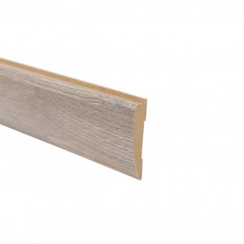 Pervaz pentru usa interior Elena, gri cu fibra texturata, 12 x 65 mm, set 3 bucati