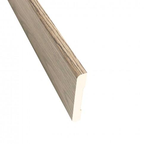 Pervaz pentru usa interior Elena, gri cu fibra texturata, 8 x 60 mm, set 3 bucati