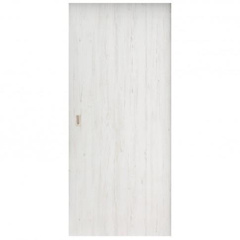 Usa de interior culisanta Eco Euro Doors Doina, plina, alb cu fibra, 85 x 206 cm + maner ingropat