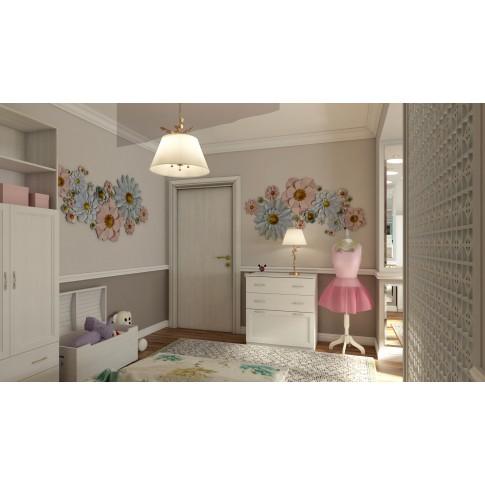 Usa interior celulara, Eco Euro Doors R80 Doina, dreapta, alb, 202 x 86 x 4 cm