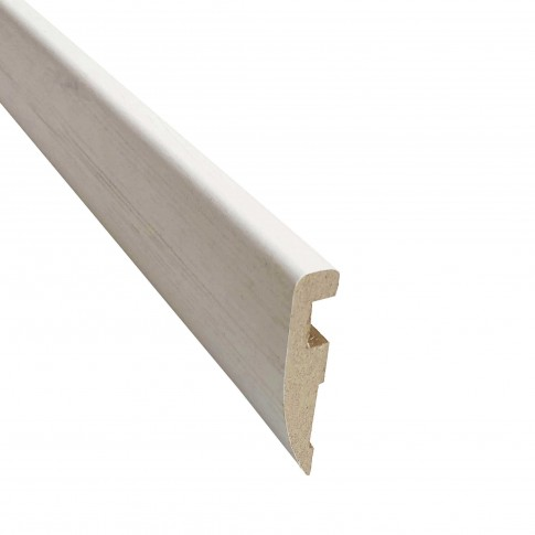 Pervaz pentru usa interior Doina, alb cu fibra texturata, 12 x 60 mm, set 3 bucati