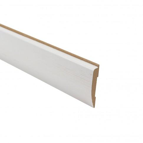 Pervaz pentru usa interior Doina, alb cu fibra texturata, 12 x 65 mm, set 3 bucati