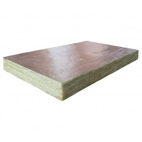 Vata minerala, placa semirigida, Baudeman GW 34, caserata cu aluminiu, 1200 x 600 x 50 mm
