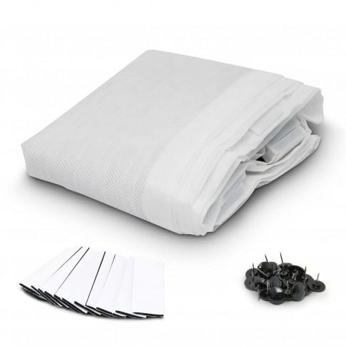 Plasa protectie insecte / tantari, Delight, pentru usi, poliester, alb, 100 x 210 cm