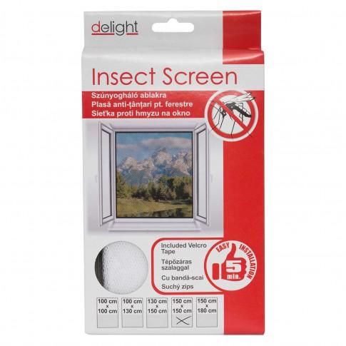 Plasa protectie insecte / tantari, Delight, pentru ferestre, poliester, alb, 150 x 150 cm