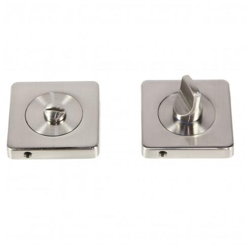 Rozata patrata pentru usa lemn ESC08, WC RS55 SN, satin nichel, zamac, 55 mm, 2 buc /set