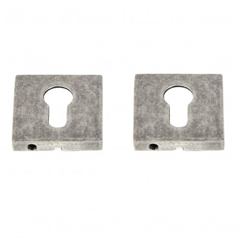 Rozata patrata pentru usa lemn ESC09, PZ(Y) RS55 NA, nichel antracit, zamac, 55 mm, 2 buc / set