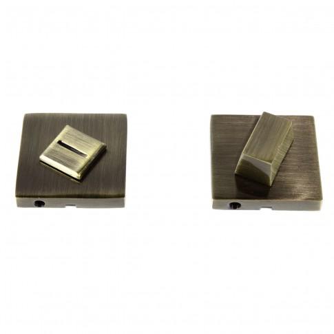 Rozata patrata pentru usa lemn ESC09, WC RS55 AB, antic bronz, zamac, 55 mm, 2 buc / set