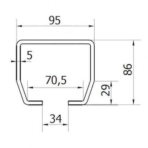 Kit autoportant pentru poarta de 8 m, otel, zincat
