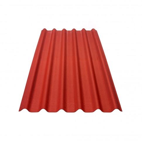 Placa ondulata bituminoasa Onduline Easyfix, rosu intens, 38 x 810 x 2000 mm