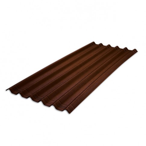 Placa ondulata bituminoasa Onduline Easyfix, maro intens, 38 x 810 x 2000 mm