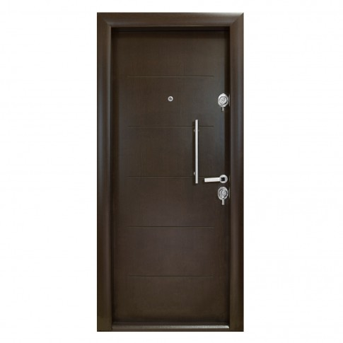 Usa interior metalica Arta Door 302, stanga, wenge, 201 x 88 cm