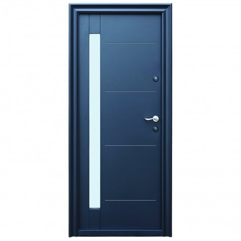 Usa metalica pentru exterior Tracia Pontus, stanga, gri antracit, 205 x 88 cm + accesorii