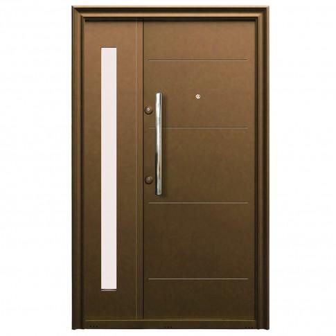 Usa metalica pentru exterior Tracia Traiana dubla, dreapta, diverse culori, 205 x 120 cm + accesorii