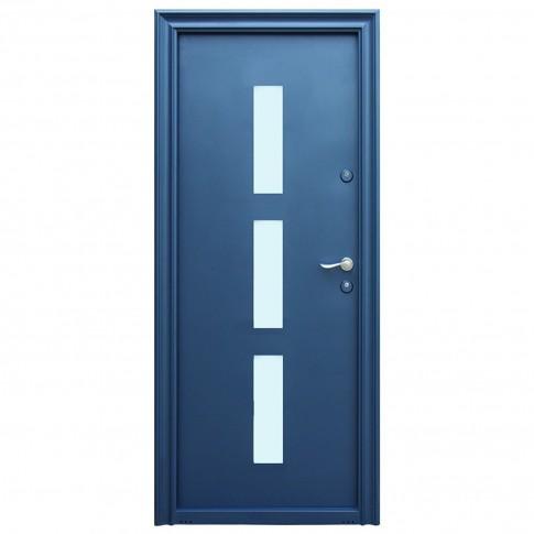 Usa metalica pentru exterior Tracia Danubius, stanga, diverse culori, 205 x 88 cm + accesorii