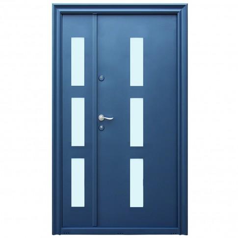 Usa metalica pentru exterior Tracia Danubius Tripan, dubla, dreapta, gri antracit, 205 x 120 cm + accesorii