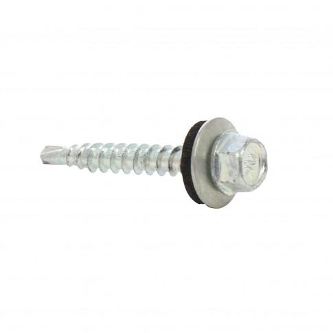 Surub pentru tigla metalica, autoforant, Bilka, zincat, 4.8 x 35 mm, 100 bucati