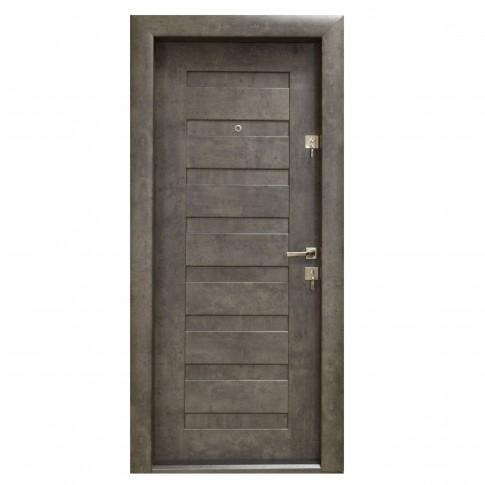 Usa interior metalica Arta Door 408, stanga, piatra petrol, 88 x 201 cm