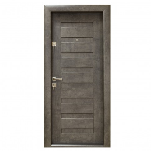 Usa interior metalica Arta Door 408, dreapta, piatra petrol, 88 x 201 cm