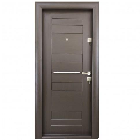 Usa interior metalica Arta Door 409, stanga, wenge, 201 x 88 cm