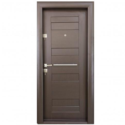 Usa interior metalica Arta Door 409, dreapta, wenge, 201 x 88 cm