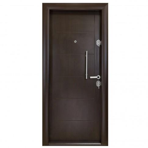Usa interior metalica Arta Door 303, stanga, wenge, 201 x 88 cm