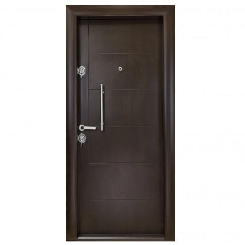 Usa interior metalica Arta Door 303, dreapta, wenge, 201 x 88 cm