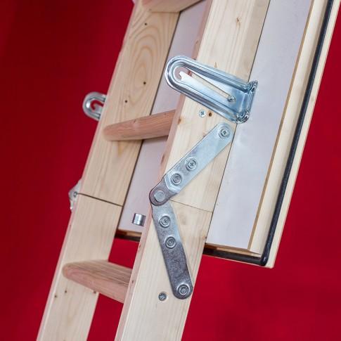 Scara mansarda termoizolata, Profil Termo, retractabila, lemn, 60 x 110 x 280 cm